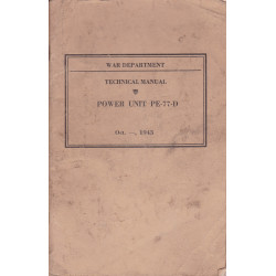 TECHNICAL MANUAL TM POWER UNIT PE-77-D