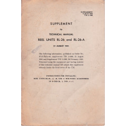 SUPPLEMENT to TM 11-360 Reel Units RL-26 And RL-26-A   1941