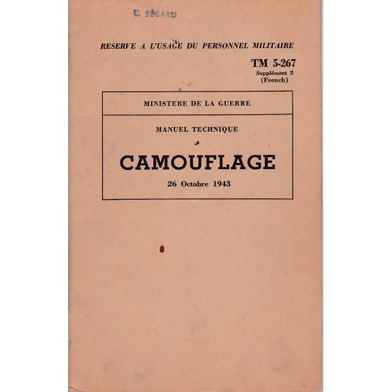 TM 5-267 supplément 2 MANUEL TECHNIQUE CAMOUFLAGE