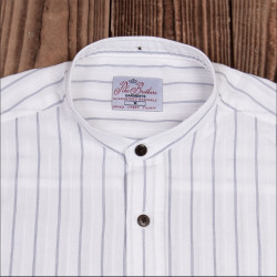 Chemise 100% coton  - 1923 Buccanoy Shirt Alp white - Pike Brothers