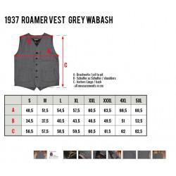 Gilet 1937 Roamer denim grey wabash gris