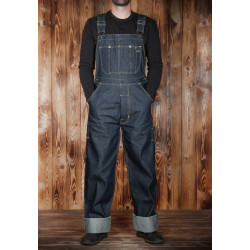 Salopette de mécano 1935 Mechanic Bib 11oz bleue indigo