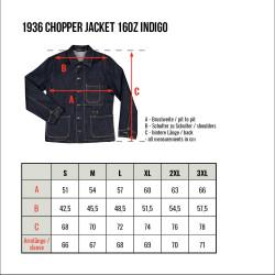 Veste en Jean - 1936 Chopper Jacket 16oz indigo – Pike Brothers