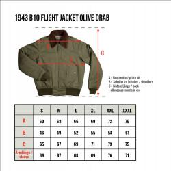 Blouson de pilote B10 - 1943 B-10 Flight Jacket olive drab – Pike Brothers