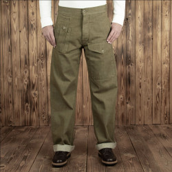 Pantalon Anglais - 1952 Pattern Trousers olive selvage – Pike Brothers