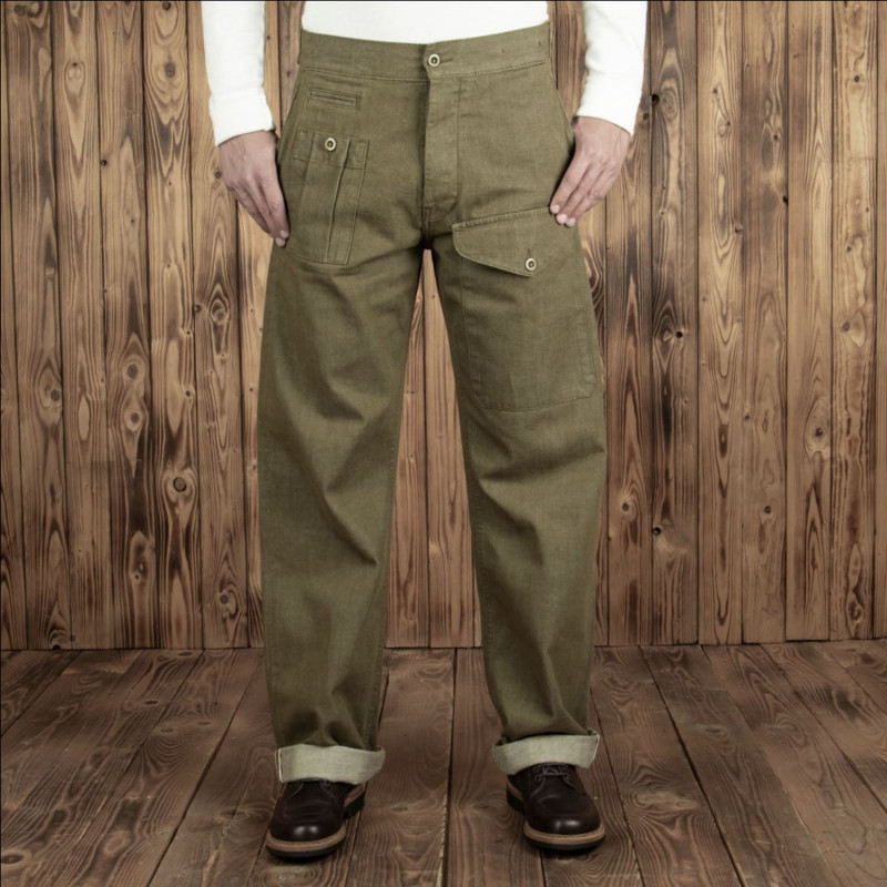 Pantalon Anglais - 1952 Pattern Trousers olive selvage – Pike Brothers