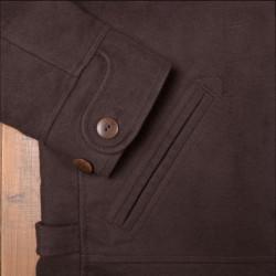 Blouson Cycliste - 1932 Roadster Jacket Moleskin dark brown – Pike Brothers