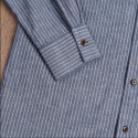 Chemise col mao coton - 1923 Buccanoy Shirt Brisbane Blue - Pike Brothers
