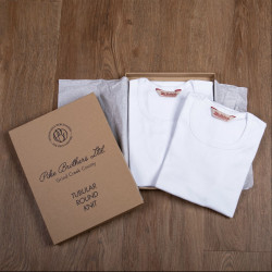 T-Shirt tubulaire col rond - 1947 Round Neck Set white Pike Brothers