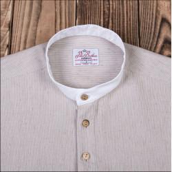 Chemise coton – 1923 Buccaneer Shirt Guernsey brown – Pike Brothers