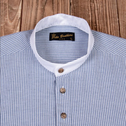 Chemise coton - 1923 Buccaneer Shirt Guernsey blue stripes – Pike Brothers