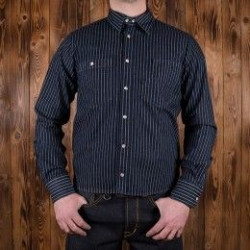 Chemise Denim - 1937 Roamer Shirt blue wabash denim Pike Brothers