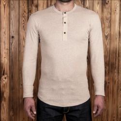 T-Shirt Henley beige...