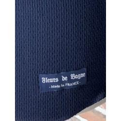 T-shirt tricot maille Elysée manches longues bleu marine navy - Fleurs de Bagne