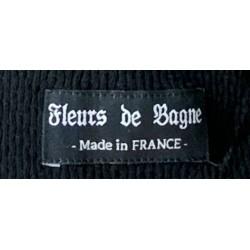 T-shirt tricot maille Elysée manches longues noir black - Fleurs de Bagne
