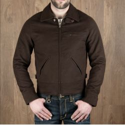 Blouson Cycliste - 1932 Roadster Jacket Moleskin dark brown – Pike Brothers