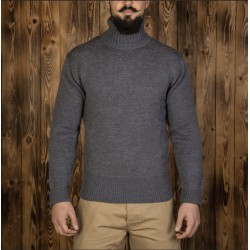 Pull-over col-roulé gris...