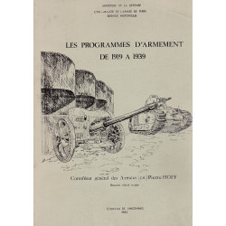 Les Programmes d'Armement de 1919 à 1939 - Pierre Hoff